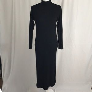 Express Tricot ribbed maxi dress, black, size M